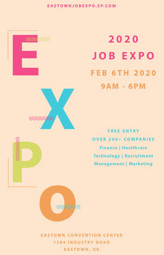 White and Colorful Job Expo Poster Job Poster