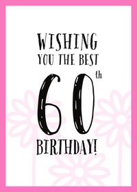 Pink, White and Black Happy Birthday Card Birthday Cards for Mother