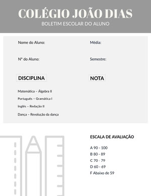 grey student report cards  Fichamento