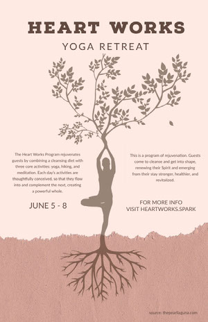 White and Pink Yoga Retreat Poster Yoga Posters