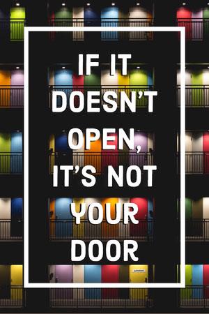 Closed Door Inspirational Saying Pinterest Graphic Text on Photos
