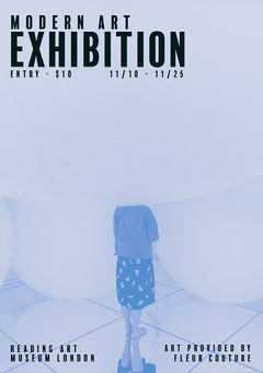 Reading Modern Art Exhibition Flyer  Art