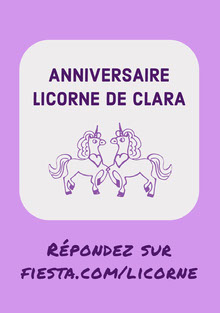 purple unicorn birthday cards Carte d'anniversaire