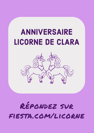purple unicorn birthday cards Carte anniversaire licorne