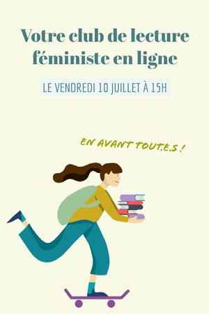Light Green Online Feminist Book Club Pinterest Post  Prospectus de club