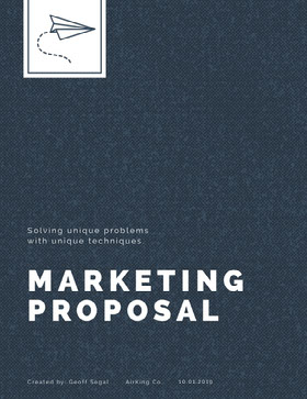 Blue Marketing Business Proposal Proposal