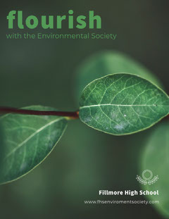 Green Environmental School Club Flyer with Plant Nature