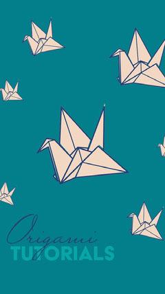 Blue Origami Tutorial Instagram Story Crafts