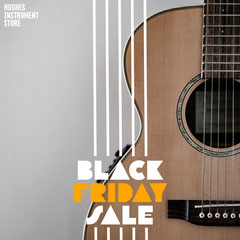 Guitar Cyber Monday Sale Instagram Square Thanksgiving Sale