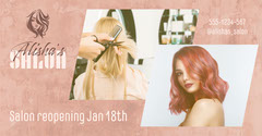 Pink Alisha's Salon Facebook Post Beauty Salon