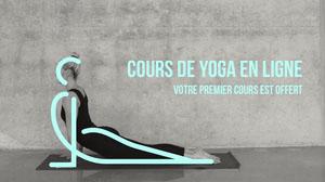 Blue Grey Online Yoga Class Facebook Cover  Couverture Facebook