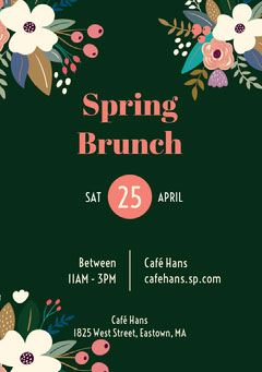 Green Spring Brunch Invitation  Brunch