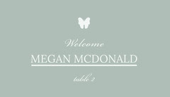 MEGAN MCDONALD  Welcome Poster