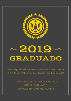 graduation announcements Invitación de graduación