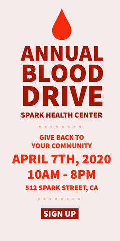 Red and White Blood Drive Event Ad Instagram Story Health Poster