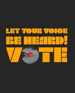 Let your voice be heard Voting Instagram Portrait Voting