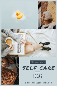 Blue and White Self Care Pinterest Wellness