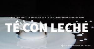 milk tea banner ads Folletos publicitarios