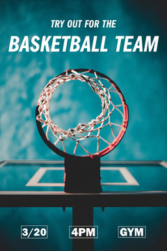 School Basketball Team Tryouts Pinterest Graphic Teams