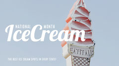 Blue, Pink and White Ice Cream Month Event Facebook Banner Ice Cream Social Flyer