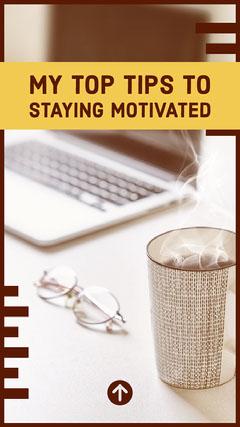 Motivational Tips Instagram Story with Desk Photo Instagram Story