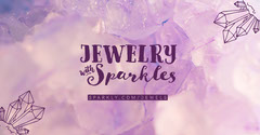 Pink Jewelry Store Facebook Post Ad with Crystal Jewelry