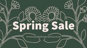 spring sale twitter banner  Annonsbanner