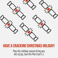 cracking Christmas holiday igsquare  Biglietto di Natale