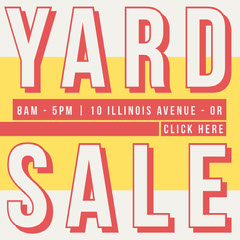 Yard Sale Instagram Square Yard Sale Flyer
