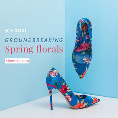 Blue Shoes Spring Collection Ad Instagram Square  New Collection