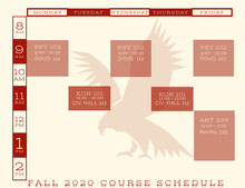 Red Emblem Collegiate Timetable  일정