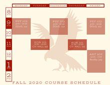 Red Emblem Collegiate Timetable  Pianificazione