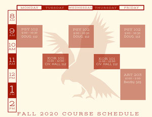Red Emblem Collegiate Timetable  Timetable Maker