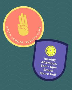 Colourful Scouts Club Patches Instagram Portrait After School