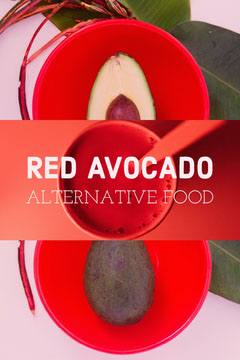 Red Avocado Alternative Food Pinterest Graphic Healthy