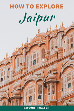 how to explore Jaipur travel ad  Teal