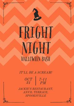 Fright Night Halloween Party Invitation Halloween Party Invitation