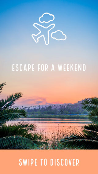 Escape for a weekend 사진 속의 문구