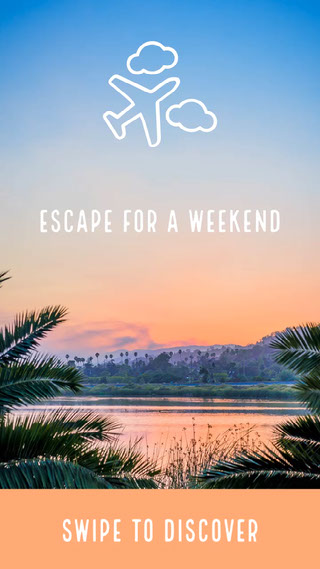 Escape for a weekend Texte sur les photos
