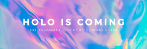 holographic new product website banner Banner