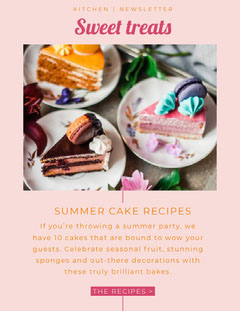 cakes newsletter Dessert