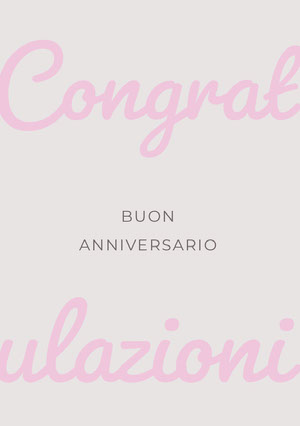 pink and grey happy anniversary congratulations cards  Biglietto di congratulazioni