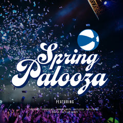Blue and White Text on Crowd Background Spring Palooza Instagram Post Christmas Party