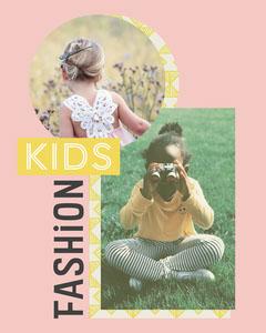 Pink Kids Fashion Instagram Portrait Kids