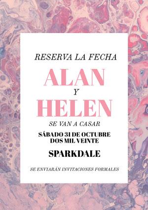 pinkish purple wedding invitations  invitación