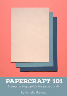 Pastel Colored Paper Craft Book Cover Buchumschlag