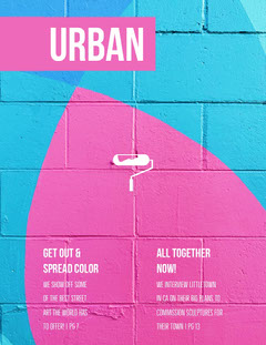 Urban Street Art Magazine Cover  Paint