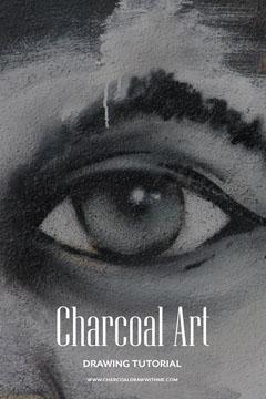 black and white charcoal art tutorial pinterest  Art