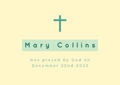 Mary Collins Baptism