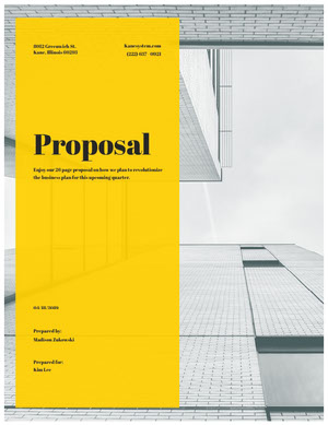 Yellow and Gray Business Proposal with Office Building Business Plan